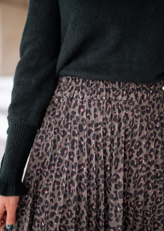 Leopard print Davis skirt