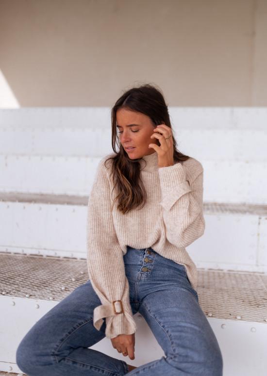 Beige Léopold sweater