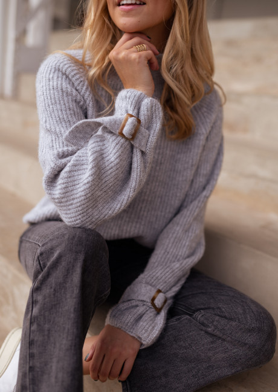 Grey Léopold sweater