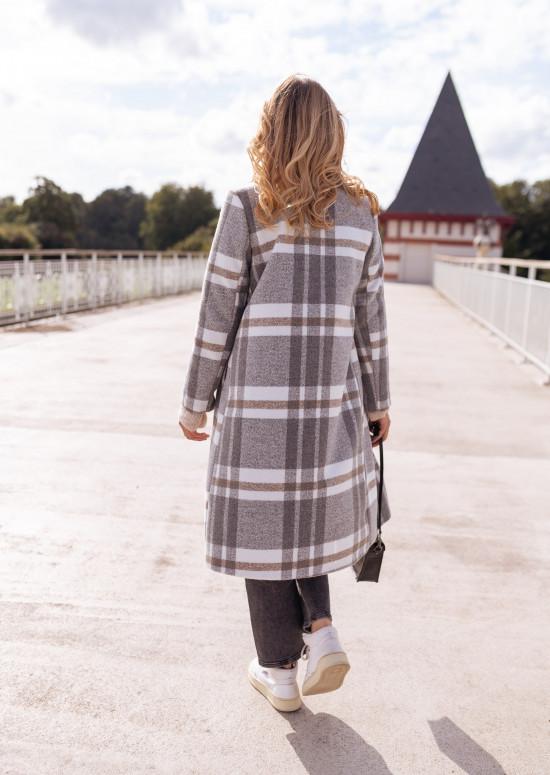 Grey ckeckered Baptiste coat