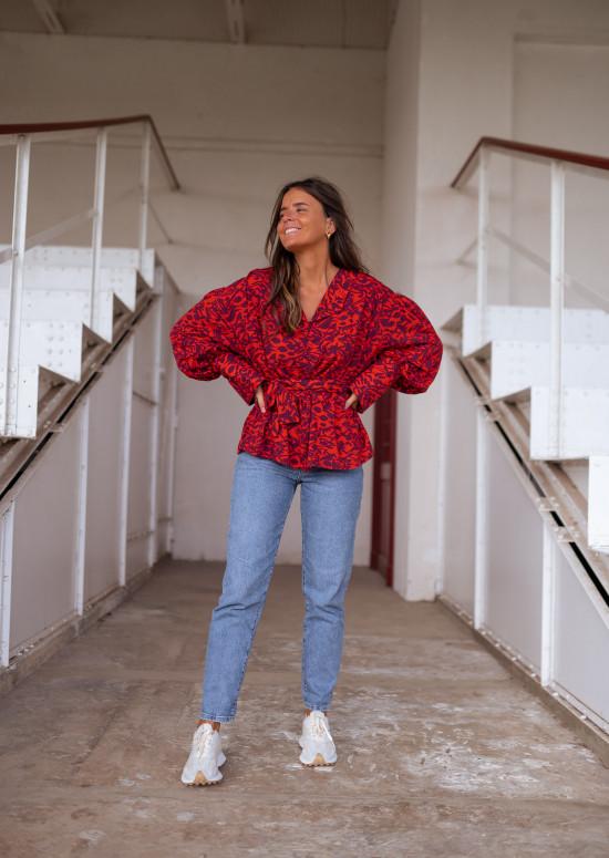 Red Meta blouse - CREATION