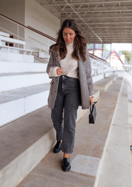 Checkered Yoana coat
