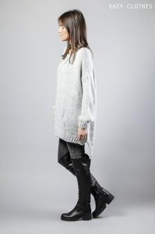 Pull-tunique gris clair