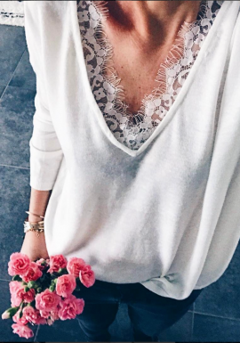 White Pullover Aby