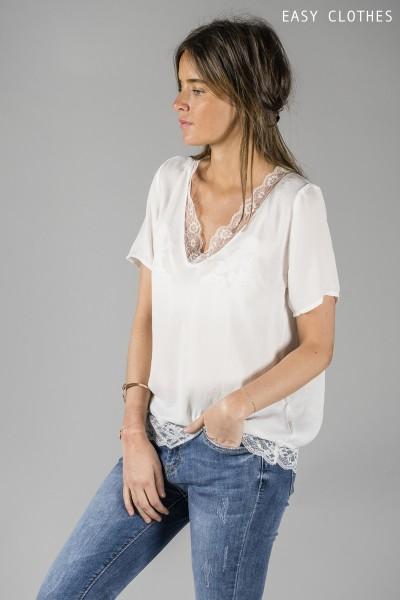 T-shirt Chris blanc