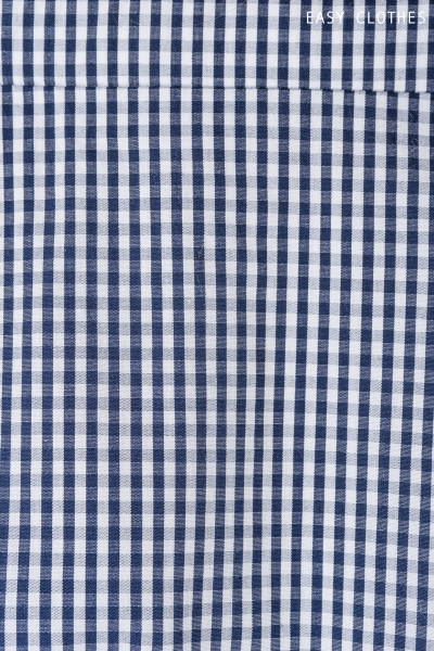 Navy blue and white Blouse Erica