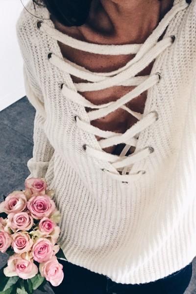 White Pullover Katie