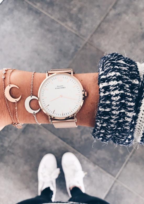 Pink gold - White Watch Harris