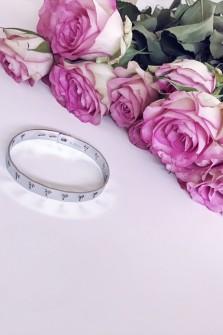 Bracelet Palmier argenté