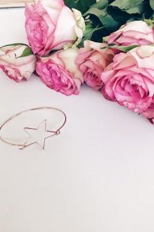 Bracelet grande étoile rosé