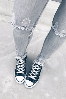 Jeans Chana gris clair