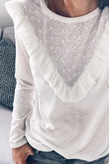 Pull Christia blanc