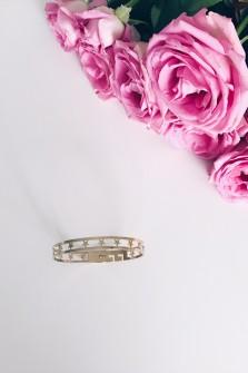 Bracelet 5 etoiles doré
