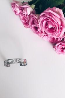 Bracelet manchette argenté