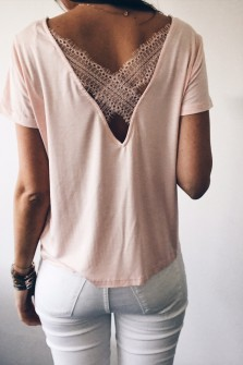 T-shirt Romy rose clair