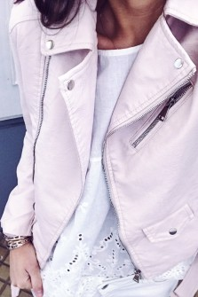 Powdered pink Perfecto jacket Janet