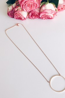 Collier Nelly rosé
