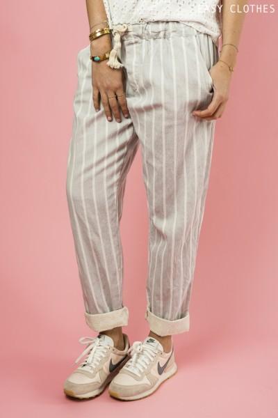 Pantalon  Bally gris clair et blanc