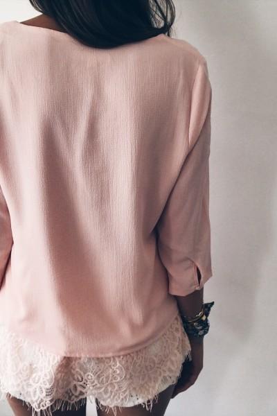 Pink Blouse Romane