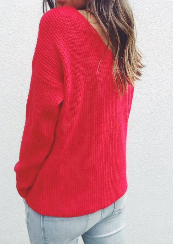 Pull Amélia rouge
